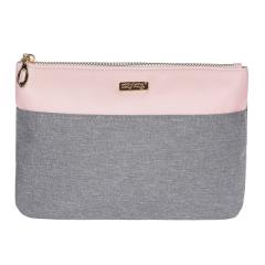 Kosmetická taška Grey salmon / plochá