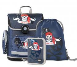 Školní set Piráti - aktovka, penál, sáček na obuv