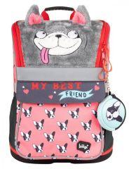 Školní batoh Zippy Doggie - s plyšovým povrchem a pláštěnkou