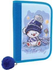 Penál 1 patro 2 klopy prázdný - Winter Story / modrá