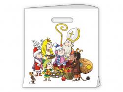 Tašky s průhmatem - M 29,5 x 32,8 cm / Mikuláš, čert, anděla