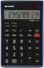 Kalkulačka Sharp EL 145 TBL - displej 14 míst