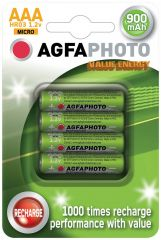 Nabíjecí baterie AgfaPhoto - NiMH AAA 900mAh / 4 ks