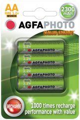 Nabíjecí baterie AgfaPhoto - NiMH AA 2300mAh / 4 ks
