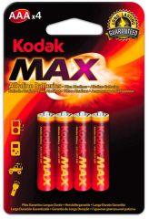 Baterie Kodak alkalické - baterie mikrotužková AAA 1,5 V / 4 ks