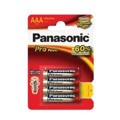 Baterie Panasonic PRO POWER alkalické - baterie mikrotužka AAA / 4 ks