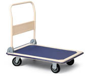Plošinový vozík -  73 x 48 mm / nosnost 150 kg