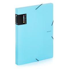 Box na spisy A4 s gumou PASTELINI - modrá