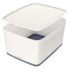 Organizační box MyBox - s víkem L / bílá