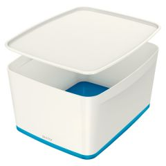 Organizační box MyBox - s víkem L / bílo - modrá