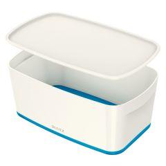 Organizační box MyBox - s víkem S / bílo - modrá
