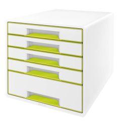 Zásuvkový box WOW - zelená / 4+1 zásuvky