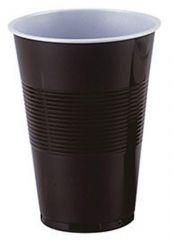 Kelímky kávové plastové - hnědobílé termo / 18 dcl / 100 ks