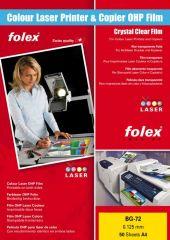 Fólie Folex - folie BG 72 pro barevné laserové tiskárny / 50 ks