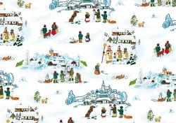 Vánoční balicí papír Josef Lada - 70 x 100 cm