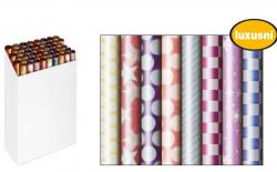 Vánoční balicí papír v roli - 70 x 200 cm / ornamenty, glitr
