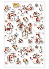 Vánoční sáčky celofánové transparentní - 25 x 40 cm / mix motivů