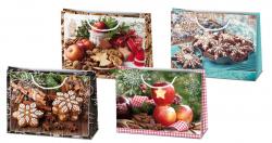 Vánoční dárková taška - HM 30 x 23 cm / mix motivů