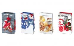 Vánoční dárková taška - S 10 x 16 cm / mix motivů