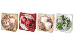 Vánoční dárková taška - SQ 16 x 16 cm - mix motivů
