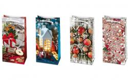 Vánoční dárková taška - SM 10 x 22 cm / mix motivů