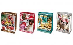 Vánoční dárková taška - M 19 x 23 cm / mix motivů