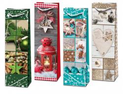 Stil Trade vánoční taška na lahve mix motivů 40x12cm