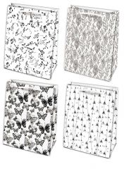 Tašky dárkové papírové - M / 19 x 23 cm