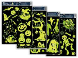 Dětské okenní folie 30 x 42 cm - halloween svítící