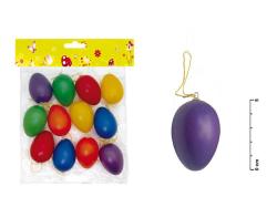 Velikonoční plastová vejce - 60 mm / 12 ks - barevný mix
