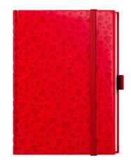 Diáře LAMINO B6 - týdenní / červená srdce