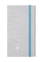 Baloušek tisk diář Lamino kapesní týdenní 2021 ornamenty stříbrná