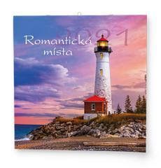 Kalendář nástěnný poznámkový - Romantická místa / BNL6