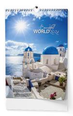 Kalendář nástěnný obrázkový Beautiful world - BNF6