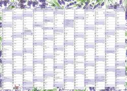 Plánovací roční nástěnná mapa - Levandule / BKA1