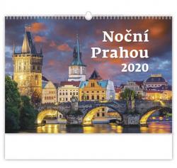 Kalendář nástěnný - Noční Prahou / N107