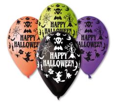 Nafukovací balónky - 30 cm / 100 ks / Happy Halloween