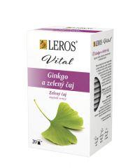 Čaj Leros zelený čaj + ginkgo
