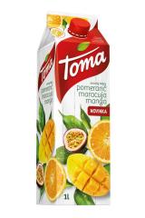 Toma džusy 1 l - pomeranč, marakuja, mango