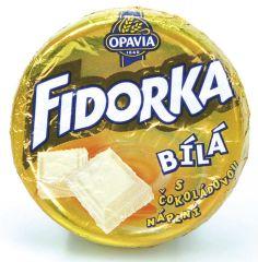 Fidorka - bílá s čokoládovou náplní
