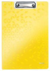 Dvojdeska A4 s klipem WOW - žlutá