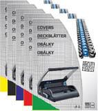 Desky pro kroužkovou vazbu zadní strana - A4 / modrá / 100 ks