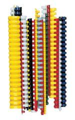 Hřbety pro kroužkovou vazbu - 8 mm / bílá / 100 ks