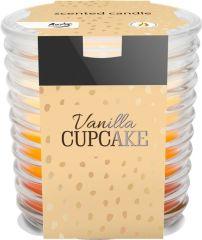 Bispol tříbarevná svíčka ve skle -  vanilka