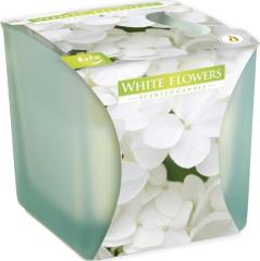 Bispol vonná svíčka v matném skle - bílé květy