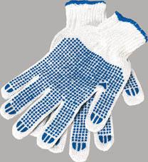 Ochranné rukavice bavlněné - s gumovými terčíky