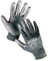 Ochranné rukavice bezešvé - BUNTING / černé / vel.10