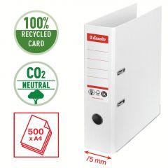Pořadač pákový Esselete CO2 neutrální - A4 / hřbet 7,5 cm / bílá