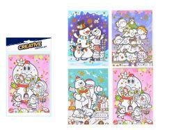kreativní set vánoční přání s kamínky + obálka140x230mm 8882329