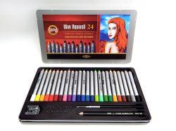 Pastely Koh-i-noor 8284 24 WAX akvarelové umělecké pastely